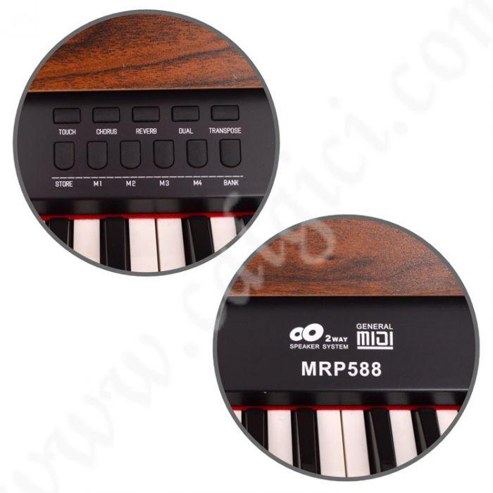 Dijital Piyano Manuel Raymond Ceviz MRP588WN