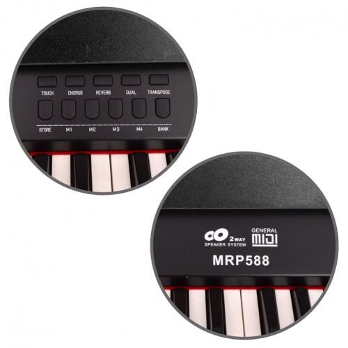 Dijital Piyano Manuel Raymond Siyah MRP588BK - Thumbnail