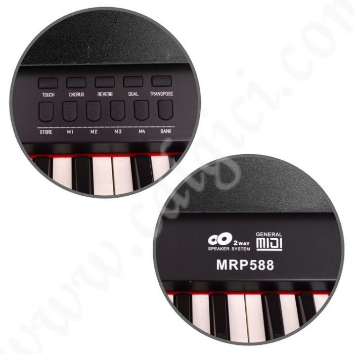 Dijital Piyano Manuel Raymond Siyah MRP588BK