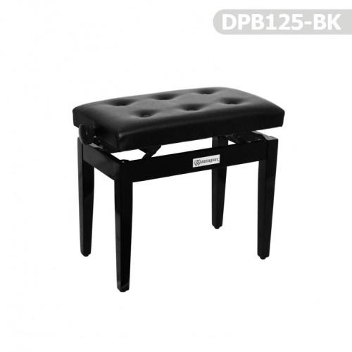 Piyano Aksesuar Koltuk Tabure Dominguez Ayarlı Siyah DPB125-BK - Thumbnail